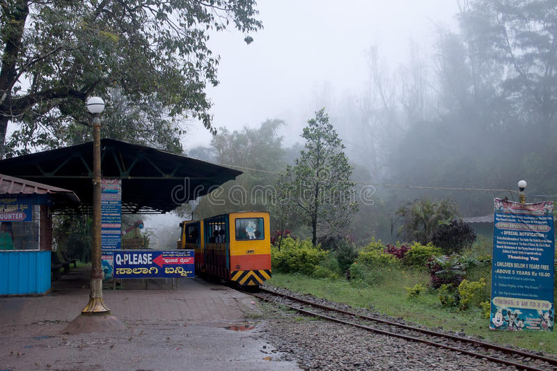 Mini Train in Madikeri, Coorg stock afbeelding