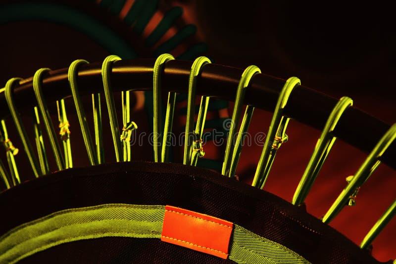 Mini Trampoline Workout Gear Studio sport royaltyfri fotografi