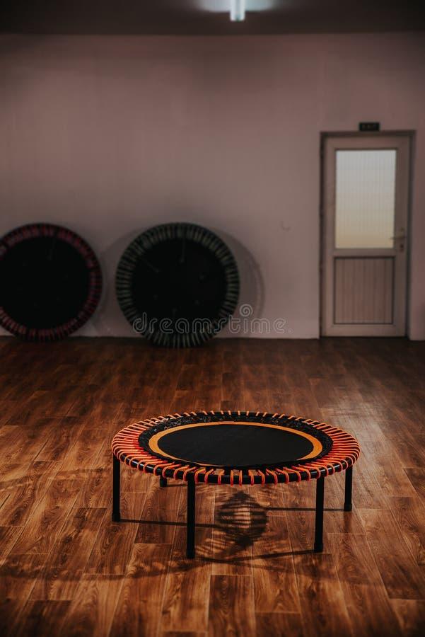 Mini Trampoline Workout Gear Studio sport arkivfoto