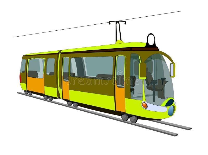 Mini tranvía de la ciudad stock de ilustración