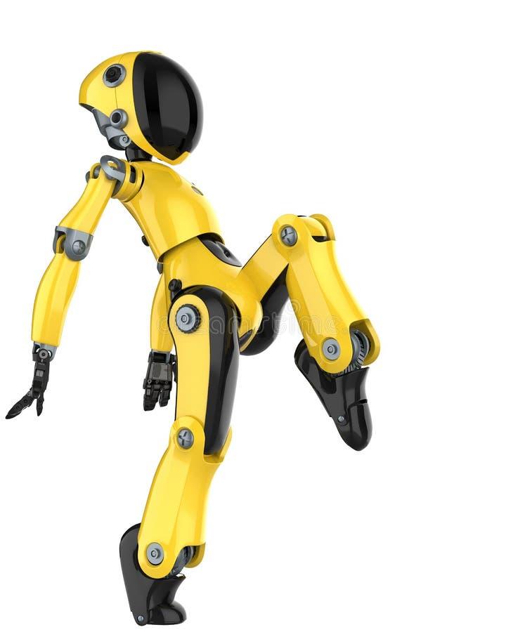 Mini- und wirklich netter Roboter stock abbildung