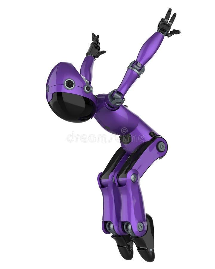 Mini- und wirklich netter Roboter vektor abbildung