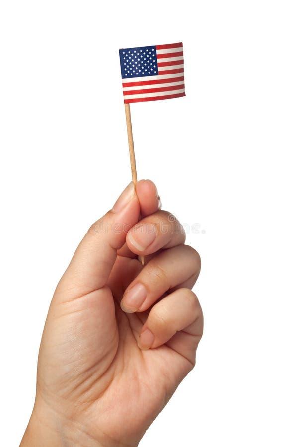 Mini United States av den Amerika flaggan fotografering för bildbyråer