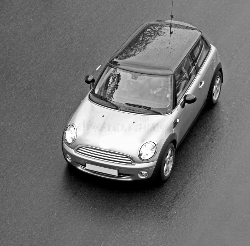 Mini véhicule noir et blanc photos stock