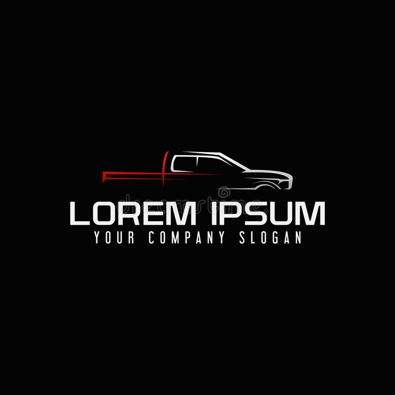 Mini van auto logo design concept template royalty free illustration