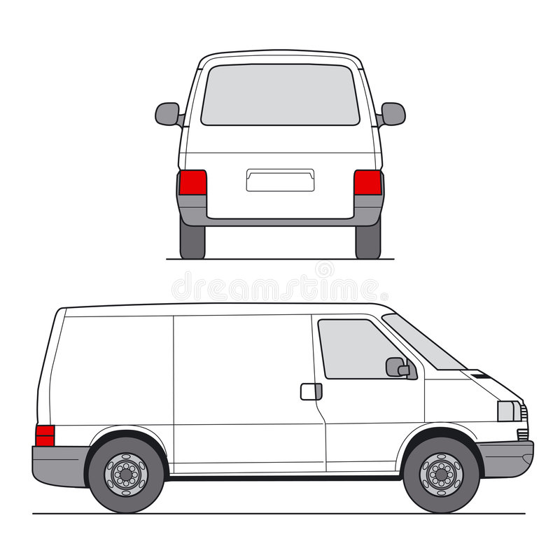 Mini Van Vector royalty illustrazione gratis
