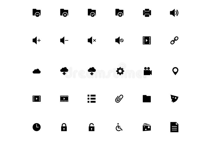Mini Vector Icons 2 illustration libre de droits