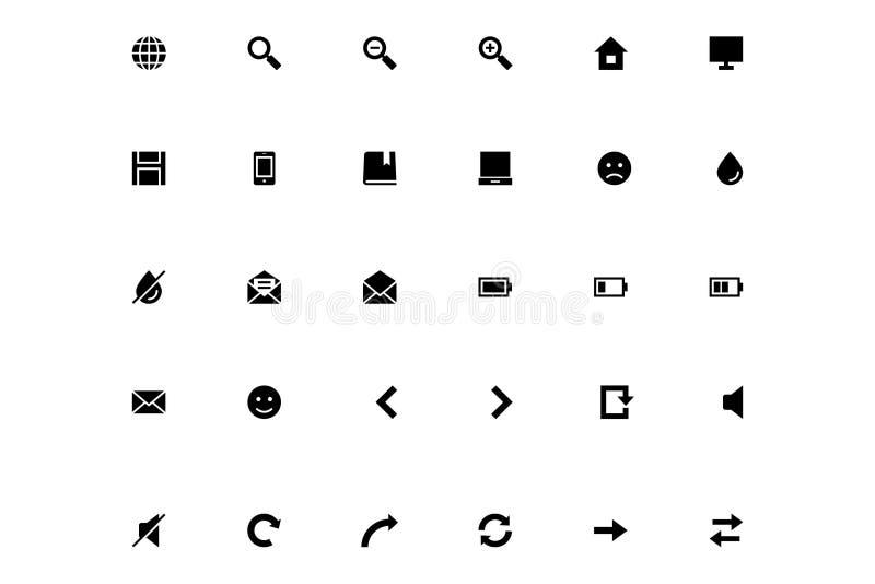 Mini Vector Icons 1 stock illustration
