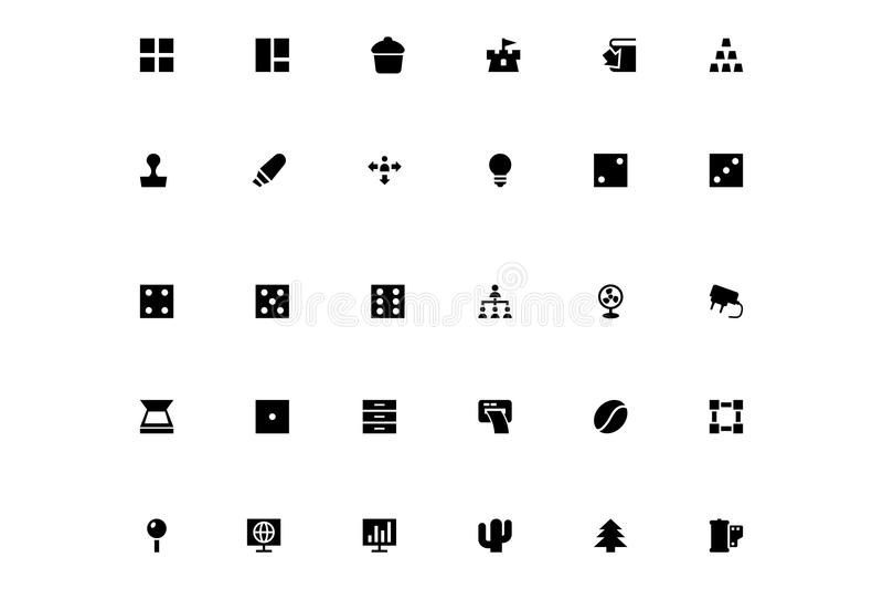 Mini Vector Icons 14 royalty free illustration