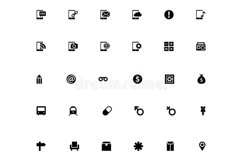 Mini Vector Icons 9 royalty free illustration