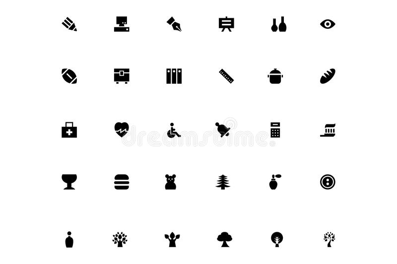 Mini Vector Icons 21 stock illustration