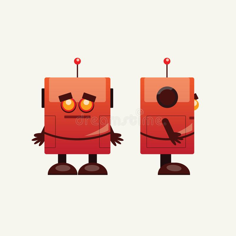 Mini vector lindo del robot libre illustration