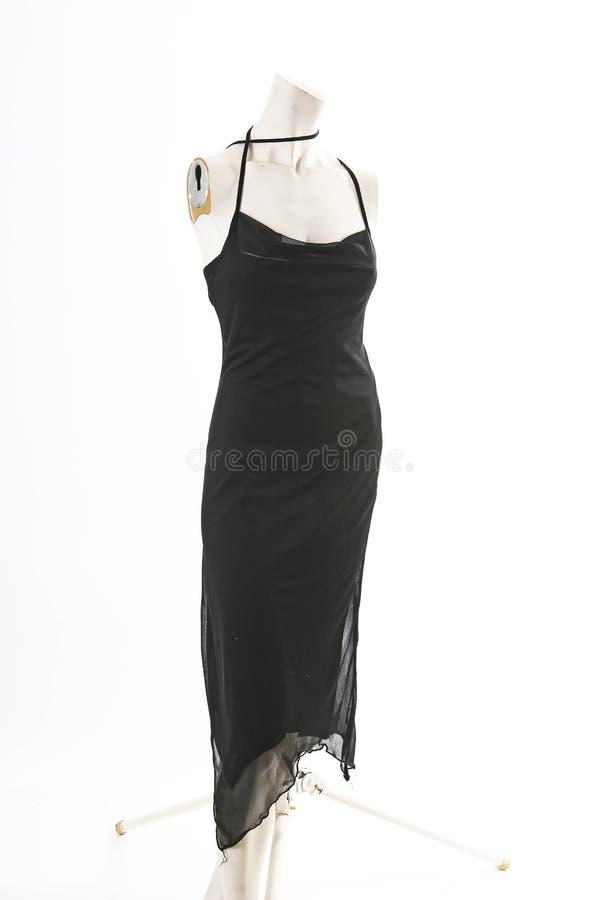 Mini vestido sólido elegante negro en la exhibición completa del body shop del maniquí Estilos de la moda de la mujer, ropa en el fotografía de archivo