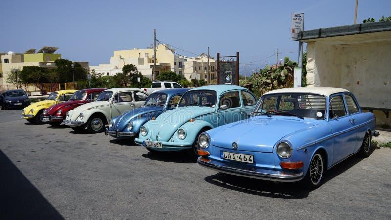 Mini-Volkswagen-Autosammlung, Malta stockfoto