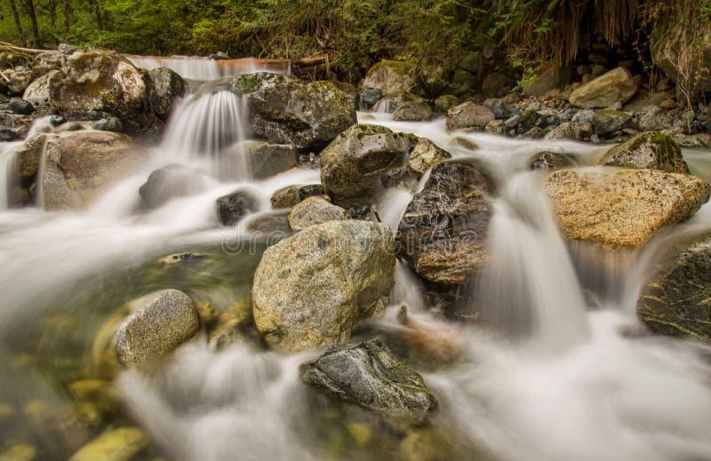 Mini Waterfalls Over Rocks royaltyfria bilder