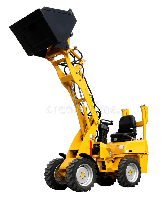 Mini Wheel Loader Stock Image
