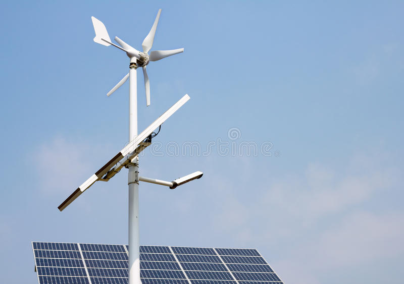 Download Mini Wind Power And Solar Panels Royalty Free Stock Image - Image: 20103116