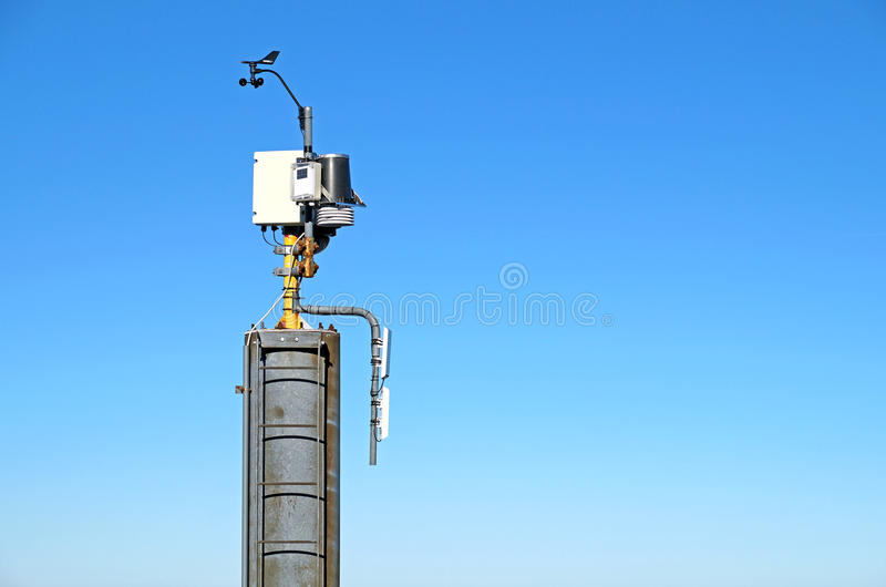 Mini wind power and solar panels for domestic use stock photography