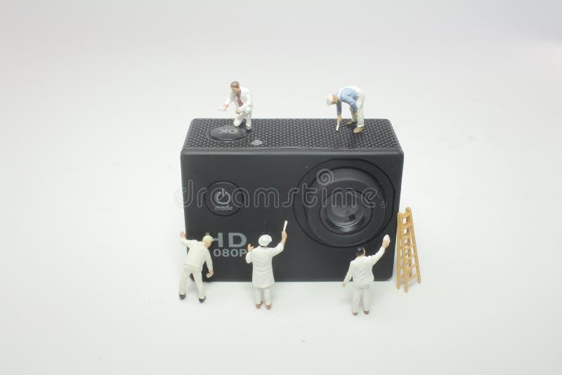 Mini-woker Klärungssport-Aktions-Kamera stockbild
