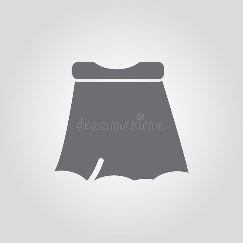 Mini wrap style skirt icon vector illustration