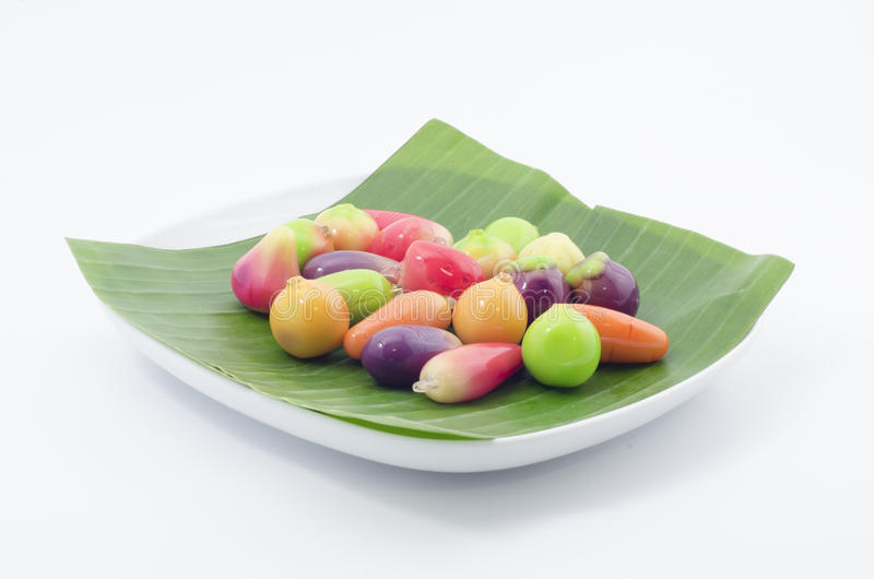 Mini Yellow Bean Fruits (Kao Noom Look Choup) (3) images stock