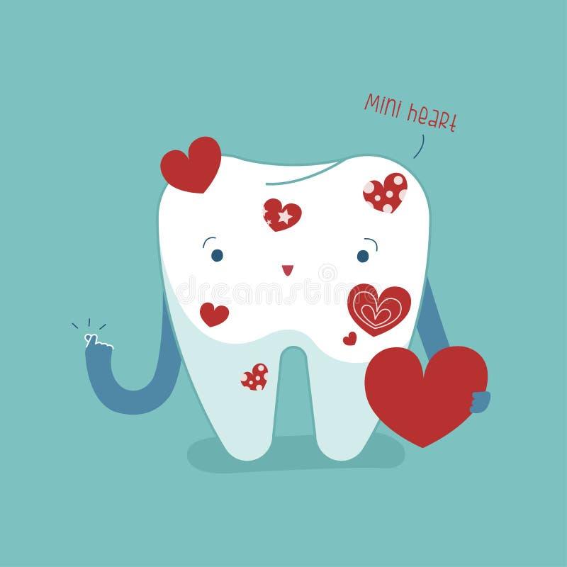 Mini zdrowy i twój usta, stomatologiczny kreskówki pojęcie zdjęcia stock