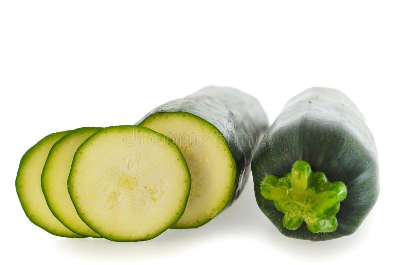 Mini- zucchinier som isoleras på vit royaltyfri bild