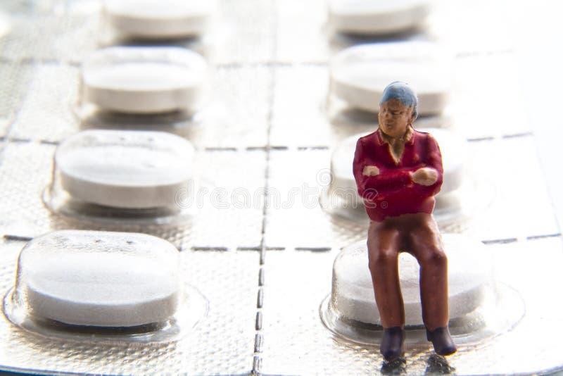 Miniatur mit Blasensatz stockfoto
