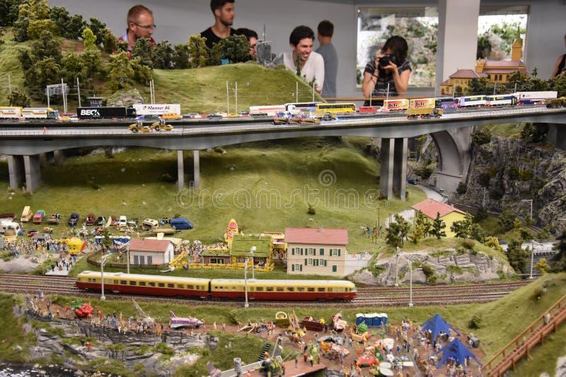 Miniatur Wunderland a Amburgo, Germania fotografia stock libera da diritti