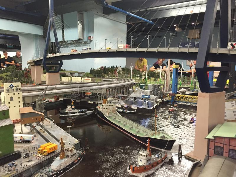 Miniatur Wunderland in Hamburg, Germany. It is a model railway attraction in Hamburg, Germany, and the largest of its kind in the world royalty free stock photo