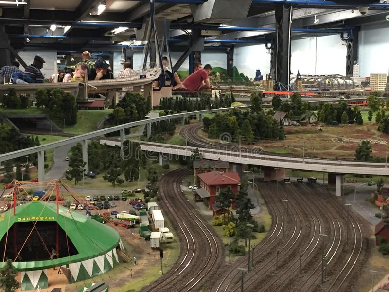 Miniatur Wunderland in Hamburg, Germany. It is a model railway attraction in Hamburg, Germany, and the largest of its kind in the world royalty free stock photos