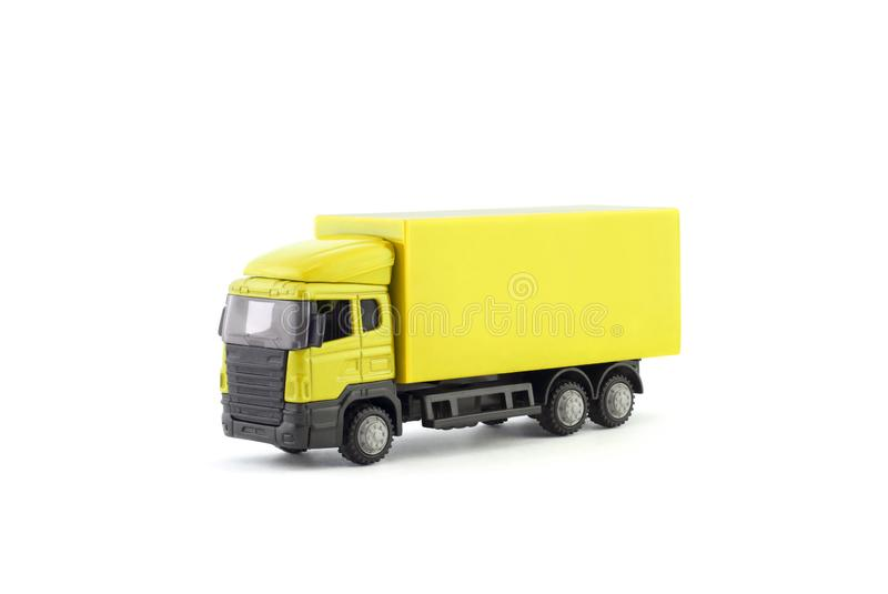 Miniatura amarela do caminhão fotos de stock