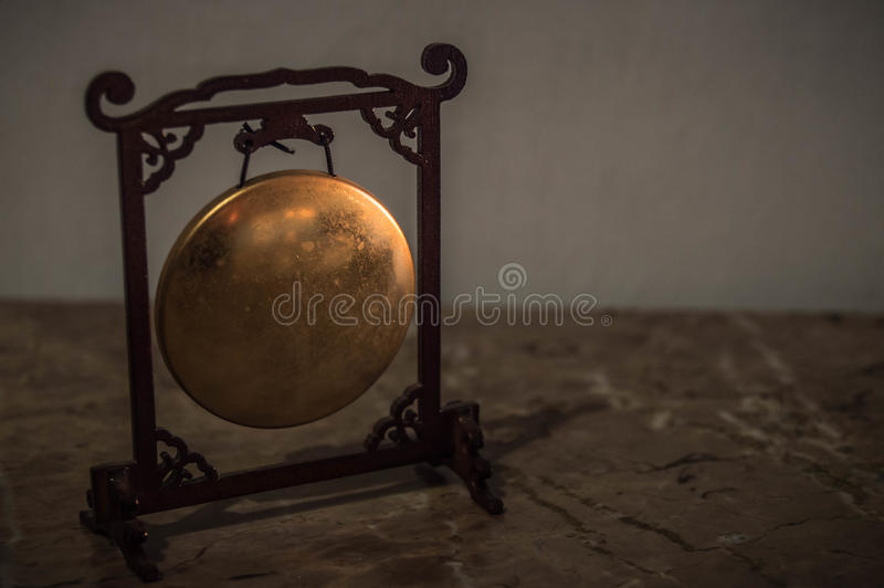Miniatura Chiński gong wewnątrz zdjęcia stock