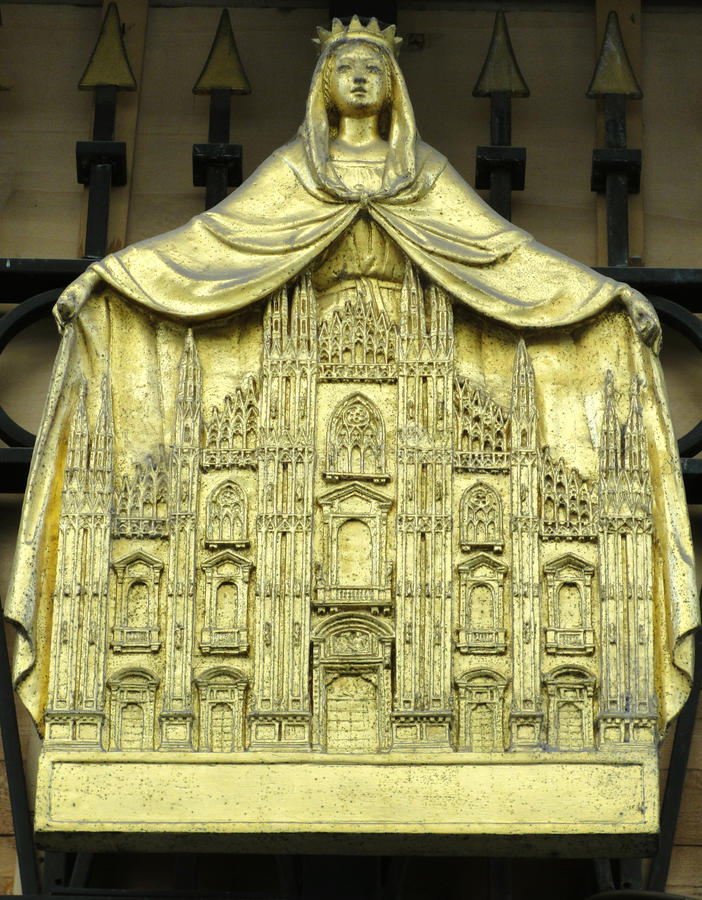 Miniatura da catedral de Milão imagens de stock