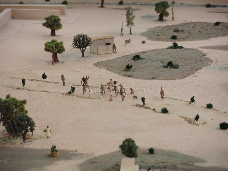 Miniatura de la ciudad indígena antigua en Lima, Perú foto de archivo