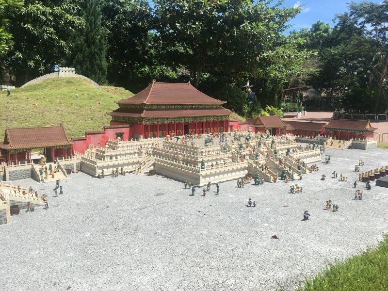 Miniatura de Lego en Legoland Malasia fotografía de archivo libre de regalías