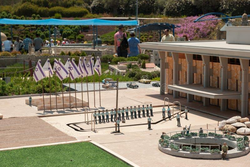 Miniatura del cuadrado del Knesset (el Knesset es el parlamento de Israel), en Mini Israel - un parque miniatura situado cerca de fotografía de archivo libre de regalías