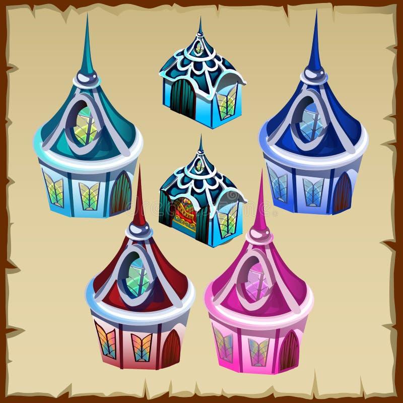 Miniatura domy jako wystrój rzecz dla inny potrzeby royalty ilustracja