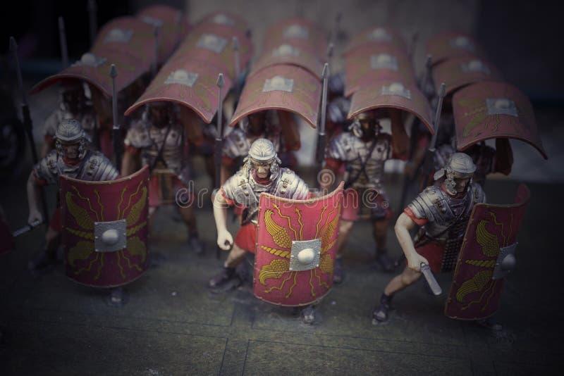 Miniatura dos soldados romanos do empire fotos de stock royalty free
