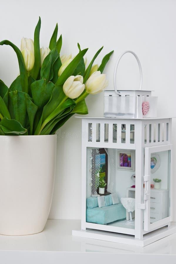 Miniatura dziecko sypialnia w lampionie fotografia royalty free