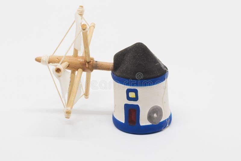 Miniatura holandesa do moinho do tradional foto de stock royalty free