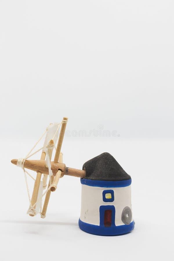 Miniatura holandesa do moinho do tradional imagem de stock