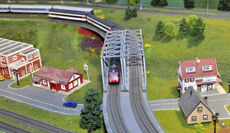 Miniatura modelo del tren fotografía de archivo libre de regalías