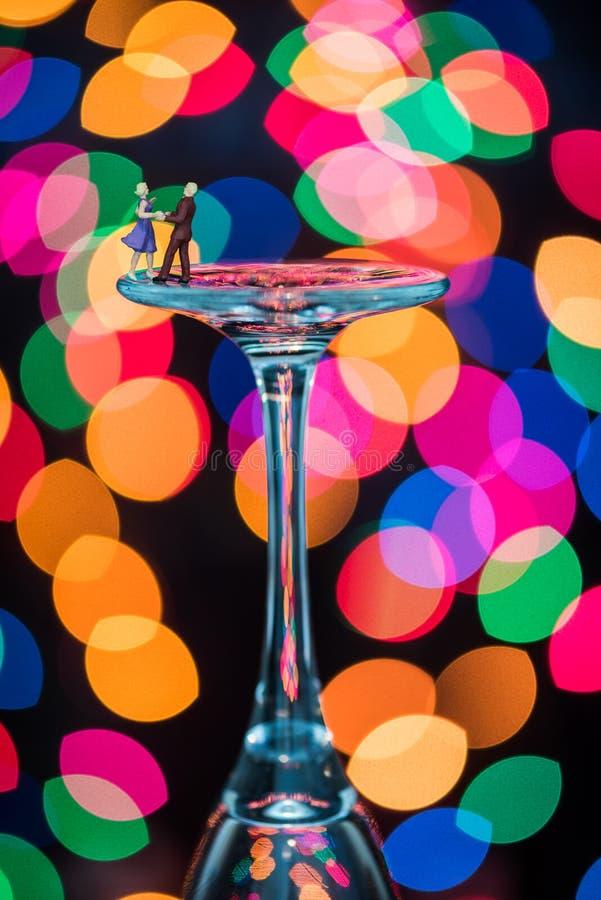 Miniatura Oblicza tana towarzyskiego na win szkłach obrazy royalty free