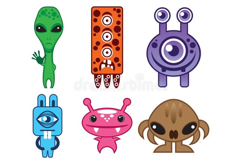Download Miniature Alien stock vector. Image of illustration, orange - 16553266
