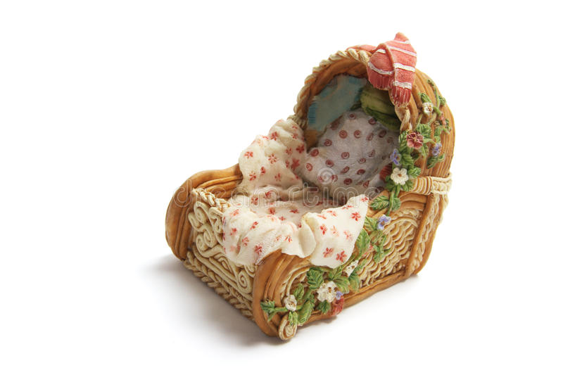Download Miniature Bassinet stock image. Image of cane, cutout - 11043707