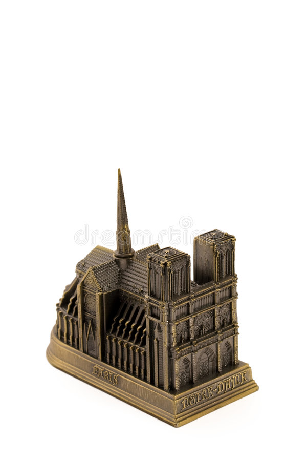 Miniature bronze copy of Notre royalty free stock photography