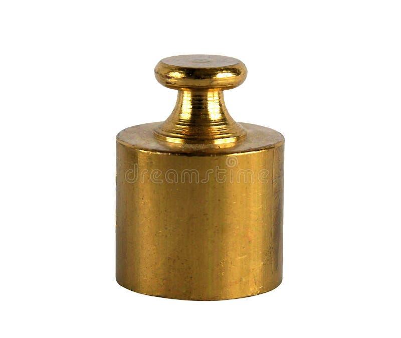 Miniature bronze vintage weights stock images