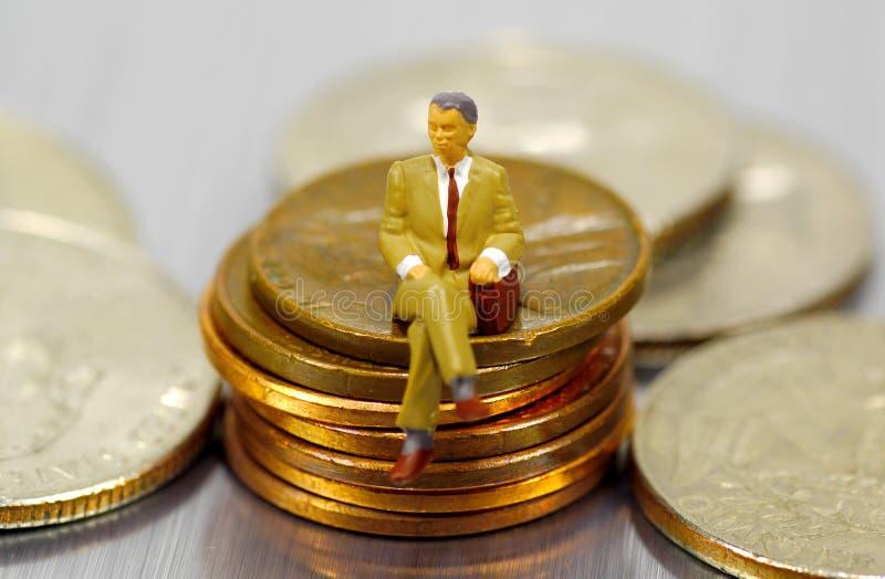 Miniature Businessman royalty free stock photo