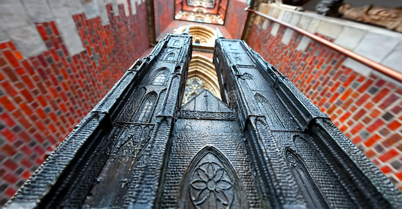 Miniature of the Cathedral stock images